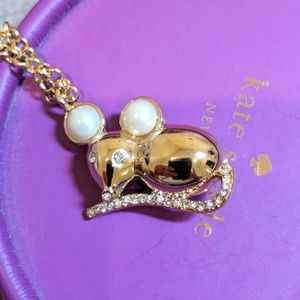 Kate Spade Mouse Necklace BNWT